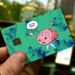 [Promoção] kit100 un. P/ revender Adesivos protetor de Cartão Premium