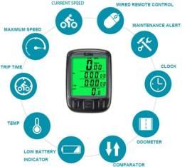 Velocímetro Esporte / Bike Computador Com Fio, Sensor Luz Noturna.