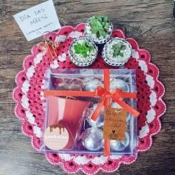 Dia das mães - Caixa cápsulas de cappuccino artesanal e coração lapidado recheado