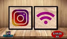 Quadros Decorativos Do Instagram Medindo 26x26 Cada Produzidos Em Alta Resolução