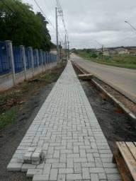 Calçada Paver de concreto
