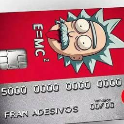 Pacote 6 adesivos para Cartão de Crédito