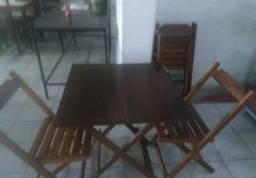 Jogos de Mesas dobráveis em Madeira de gergelim