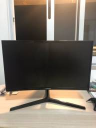Monitor curvo SAMSUNG (DEFEITO) + Carregador Original