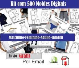 Kit com 500 moldes digitais