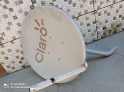 Título do anúncio:  Antena usada  Ku 60cm Logo Claro (sem Cabo E Sem Lnb ).