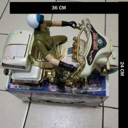 moto de brinquedo  antiga heli motorcop  hk  -726 a  a pilha  na caixa funcionando