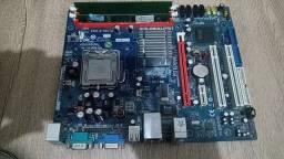 Placa mãe Dual DDR2 800+Processador+Ram
