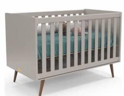 Berço Bebê Cinza- NOVO