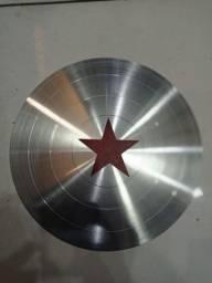Escudo de Metal- Capitão América- Aceito Cartão