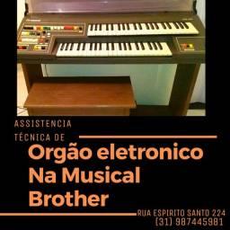Conserto de órgãos eletrônicos na Musical Brother