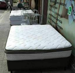 cama casal box molas