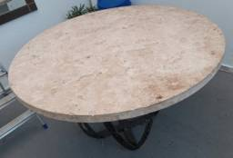 Mesa em ferro e mármore 1.5m