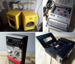 Lote de eletrônicos antigos retrô. Só pra decoração. Aceito cartão