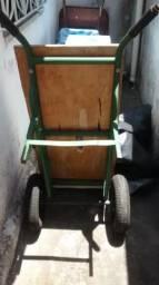 Carinho de carga grande profissional com pneus , câmera de ar e aro de ferro todos novos