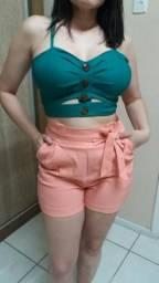Cropped e shorts vengaline