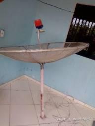 Antena parabólica da century e receptor junto