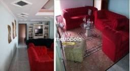 Cobertura com 4 dormitórios à venda, 336 m² por r$ 1.400.000 - santa maria - são caetano d