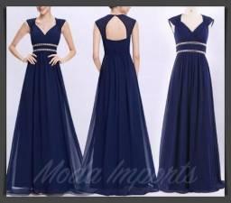7a5566d21 Vestido Festa Ever Pretty Elegante Azul Marinho Orion