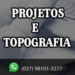 Topografia e Projetos (preço justo, serviço particular)