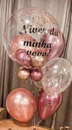 Cesta e balão personalizado