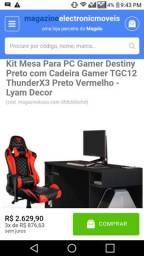 Mesa Gamer + Cadeira compre direto pelo nosso Sitte