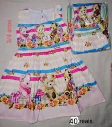Vestido infantil, todos novos
