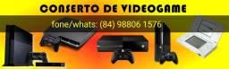 Conserto de vídeo game e manutenção