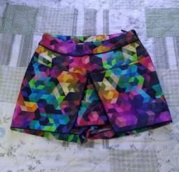 Short saia tamanho P