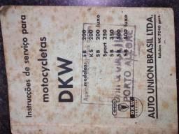 Instruções de serviço para motocicletas DKW