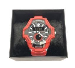 Relógio Casio G-shock GravityMaster Pulseira e Caixa Vermelha Com Garantia Produto Novo