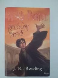 Livro relíquias da morte Harry Potter