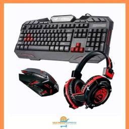 Kit Gamer Teclado + Mouse + Headset C3Tech