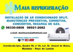 Instalação , Limpeza e Serviços em Ar Condicionados Split *