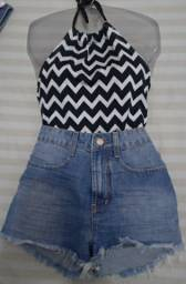 Shorts Jeans Denim Zero Novos