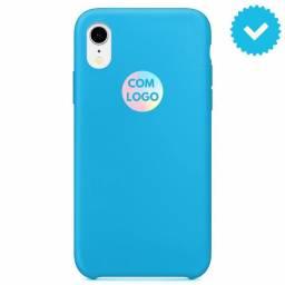 Capa Capinha Silicone Case iPhone XR Cor Azul Bebê - C/ Logo