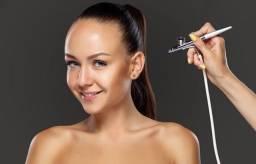 Airbrush e compressor maquiagem profissional