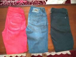 Vendo combo de calça jeans feminina tamanho 34,36,38