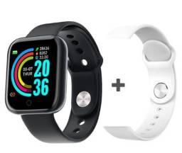 Smartwatch Relógio Inteligente D20 Pro Y68 preto e Branco