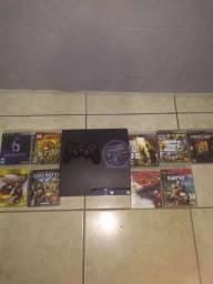 PS3 com 10 jogos