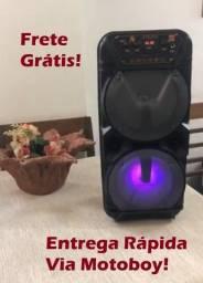 Caixa Portátil de Musica (KTS 1131 / Potencia de 700W) + microfone! Frete Grátis!