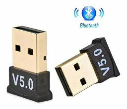 Adaptador Bluetooth 5.0 USB Conecte Celular Fone no Computador Notebook PC