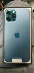 IPHONE 12 PRO MAX PACIFIC BLUE NOVO NUNCA ATIVADO NF E GARANTIA