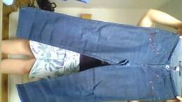 3 calças jeans femininas e masculina