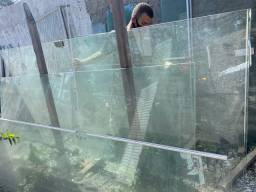 Título do anúncio: Porta de correr de vidro blindex