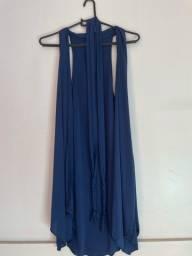 Cardigan Liso Azul-Marinho