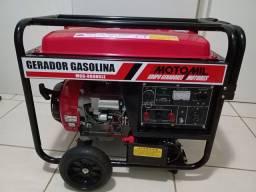 Gerador a gasolina refrigerado a ar.