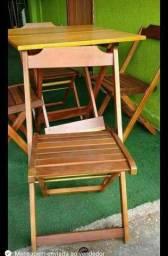 Título do anúncio: Jogo de mesa em madeira maciça 70 X 70
