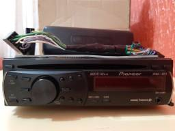 Som/ rádio veicular - Pionner - DEH-1250MP - WMA/ MP3/ CD Player