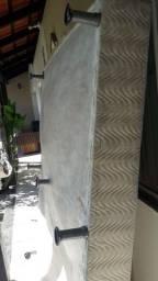 Base de cama Box casal branca pérola